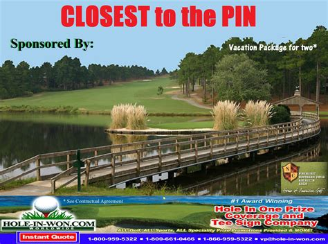 closest one closest to the pin in one images