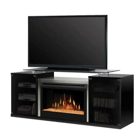 Dining Room Benches With Storage dimplex marana 76 quot tv stand in black with electric