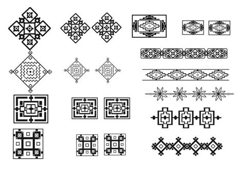 southwest pattern works albuquerque southwest border brush and pattern pack free photoshop