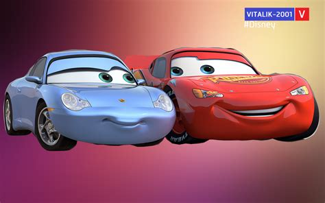 cars sally and lightning mcqueen cars mcqueen and sally pixshark com images