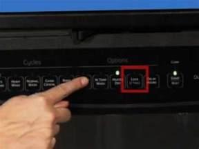 Kitchenaid Dishwasher Parts by Dishwasher Controls Lock And Unlock Youtube