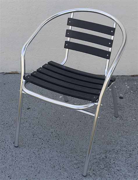 Heavy Duty Resin Patio Chairs Cafe Chair Aluminium Resin Slats Heavy Duty Stackable Chairs Outdoor Indoor New