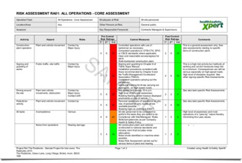 cdm design risk assessment template health safety xpert health and safety software for