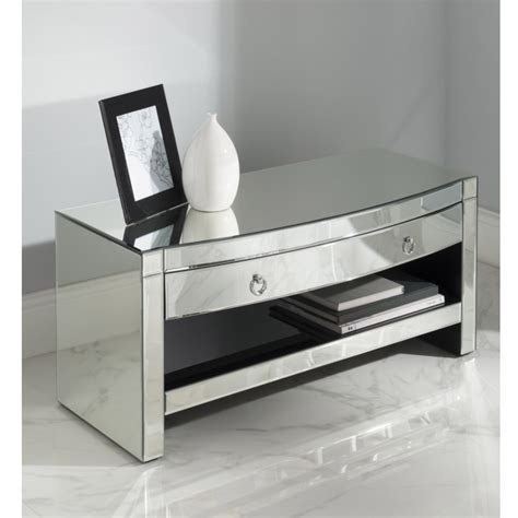 Mirrored Tv Cabinet by Florence Mirrored Tv Cabinet Venetian Glass Furniture