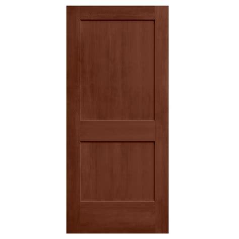 Mdf Doors Interior Jeld Wen 36 In X 80 In Amaretto Stain Solid Molded Composite Mdf Interior Door