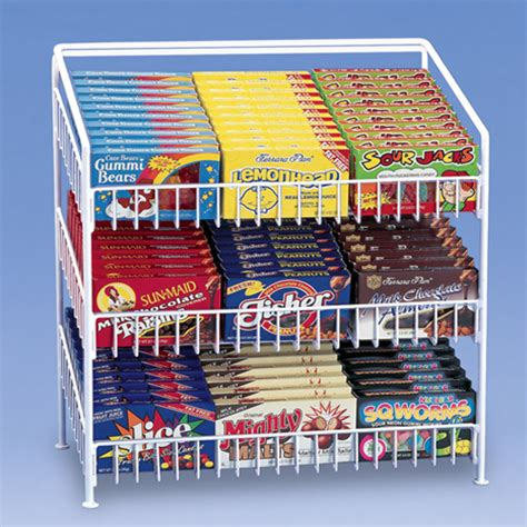 Chip Rack Display by 3 Tier Shelf Counter Top Snack Potato Chip Display