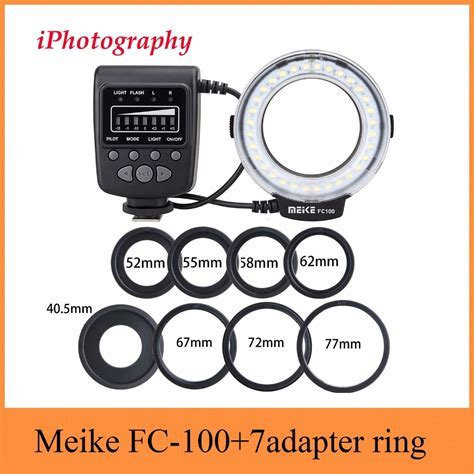 Big Discount Meike FC 100 FC100 Macro Ring Flash Light for