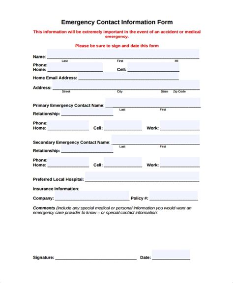 9 Sle Contact Forms Sle Templates Contact Form Template