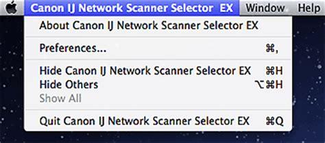 canon pixma manuals ij network scanner selector