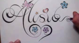 how to draw a name in fancy script writing