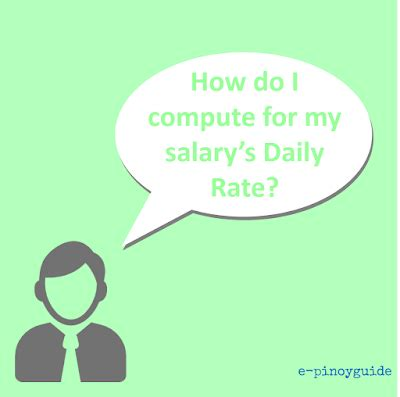 how to compute for daily rate « e pinoyguide