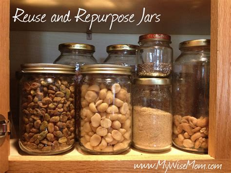 Kitchen Cupboard Ideas by Reuse And Repurpose Jars