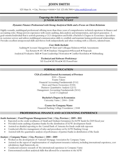 cv template junior accountant junior accountant resume template premium resume sles