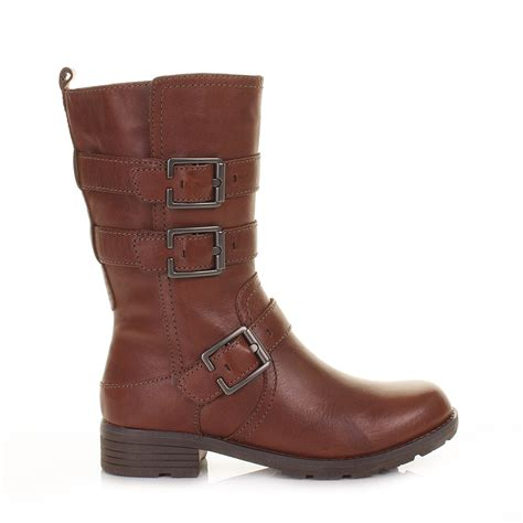 clarks womens ankle boots national sugar brown leather