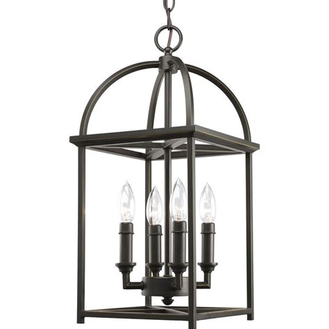 Entry Light Fixtures Progress Lighting P3884 20 Piedmont 4 Light Foyer Pendant Antique Bronze Ebay