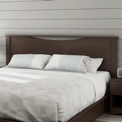 south shore headboards south shore step one king panel headboard in espresso