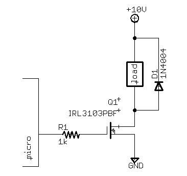 fet transistor switch circuit mosfet and transient voltage protection