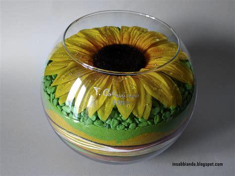 vasi con sabbia colorata insabbiando sand girasole vaso decorato con sabbia
