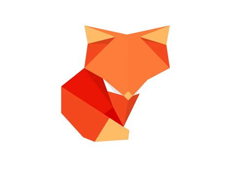 Origami Fox - origami fox by benjamin humphrey dribbble