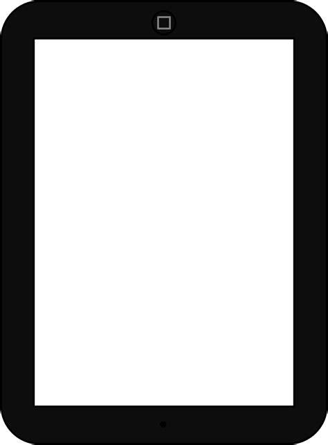 ipad clipart black  white clipart panda