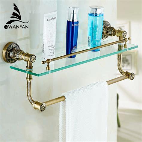 bathroom accessories glass shelf bathroom accessories bathroom glass shelf antique finish