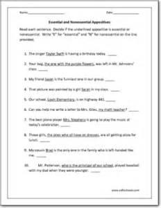 appositives worksheets davezan
