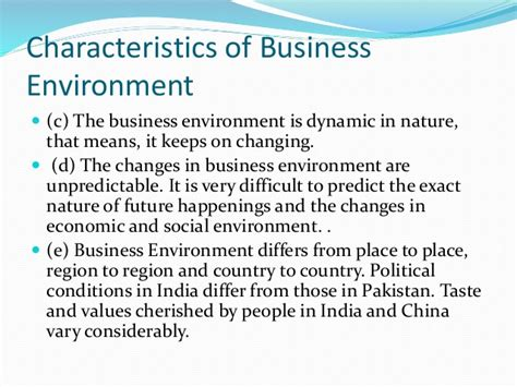 Mba Value In Pakistan by Business Environment Mba