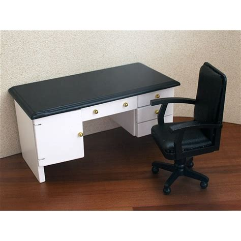 White Leather Desk Accessories Carl Schmeider White Leather Top Desk And Swivel Chair