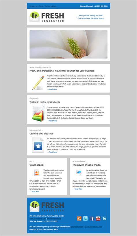 email newsletter template design 10 stunning email newsletter design dzineblog