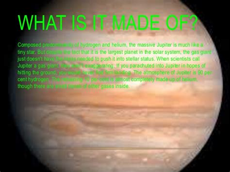 what is a made of jupiter