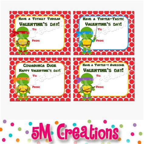 printable school valentines cards printable turtle inspired school valentines cards