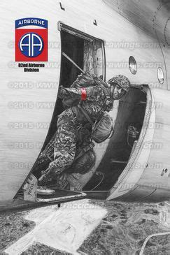 """Military drawing """"82nd Airborne Division Jumpmaster """" by ... Jumpmaster School Ft Benning"""