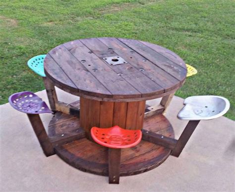 17 best ideas about wooden spool tables on