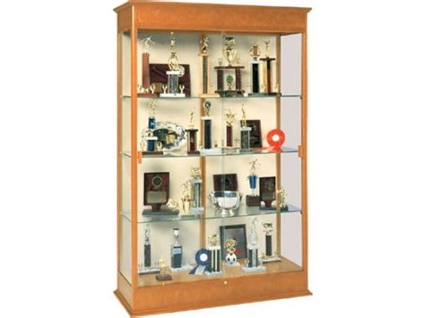 trophy display cabinets varsity trophy display 48 quot wx77 quot h trophy display cases