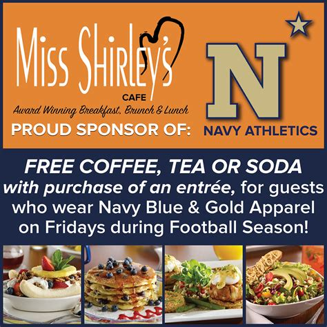 Miss Shirley's Cafe   Blog   Single   Show Your Navy Pride   Maryland's Best Breakfast, Brunch