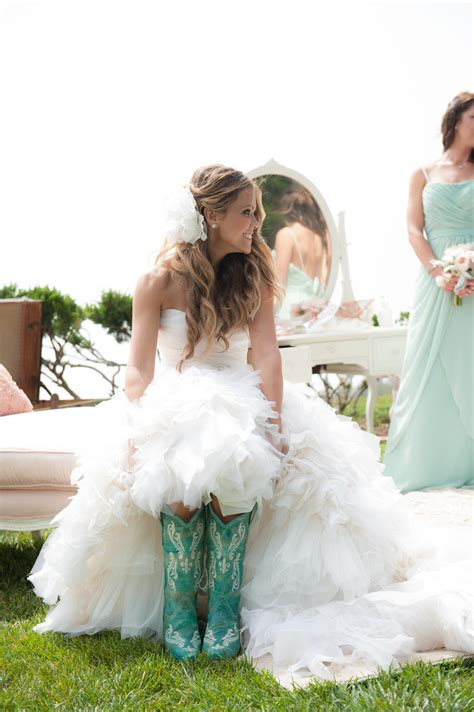 Wedding Dresses With Boots by Stylish Boots For The Bridal On The Wedding