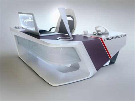 Modern Desk Design By Encho Enchev Sci Fi 3d Cgsociety Modern Design Desk