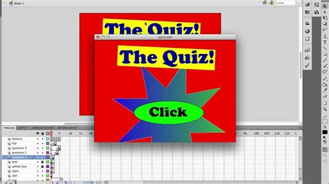 tutorial game quiz flash adobe flash cs5 making a quiz game youtube