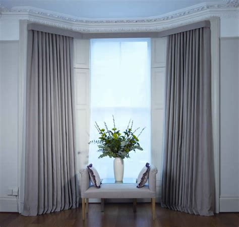 bay window with curtains curtains and blinds for bay windows dressing bay windows