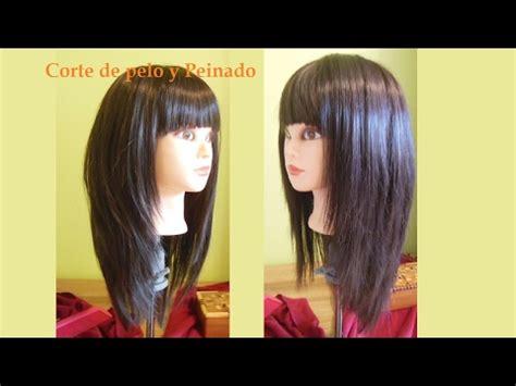 corte en v con capas c 243 mo cortar el pelo en capas largas con flequillo corte