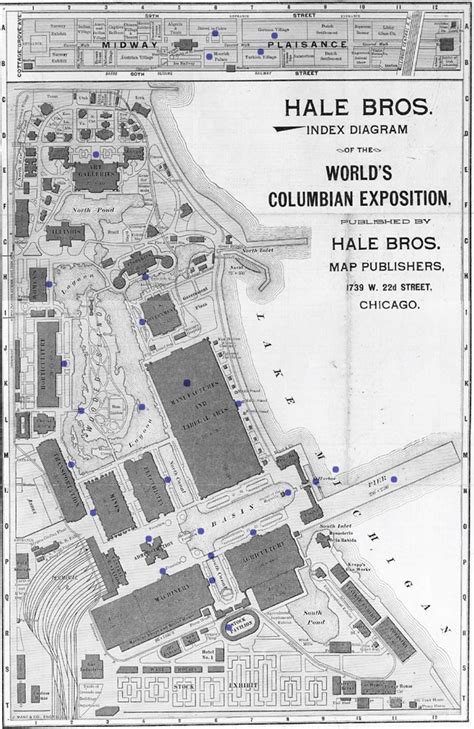 chicago worlds fair map the world s columbian exposition 1893 the chicago world