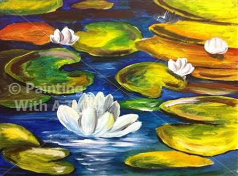 paint with a twist fairport ny water lilies ii fairport ny painting class painting
