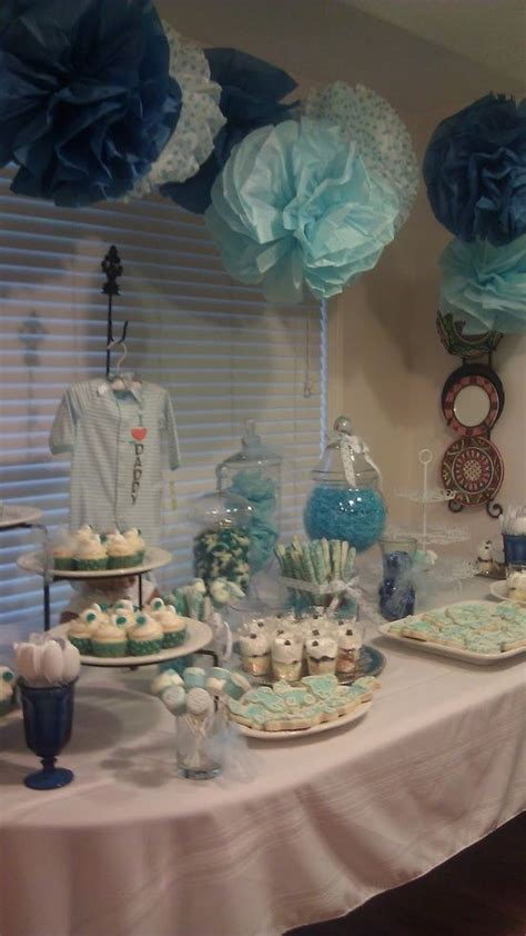 baby boy shower the colors table layout via i