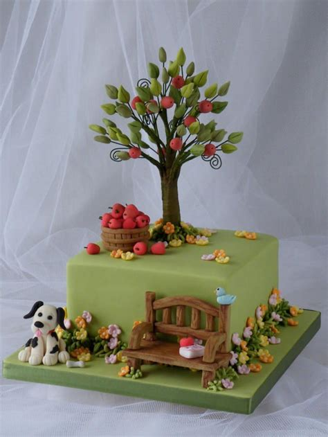 this cake started out because of my love for the tree featured in hillside with boy racer cars