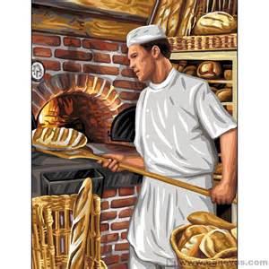 le boulanger la du canevas et de la broderie