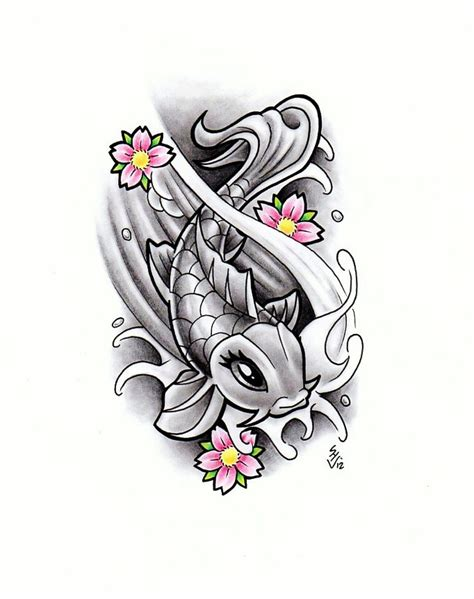 girly pattern tattoo designs girly koi fish design by hamdoggz on deviantart