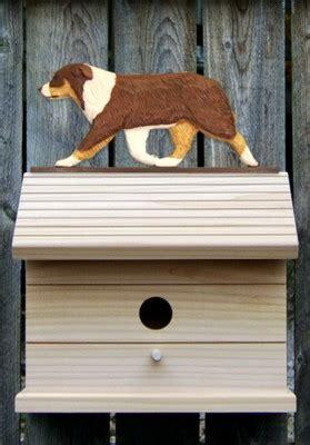 australian shepherd house dog australian shepherd hand painted dog bird house red tri