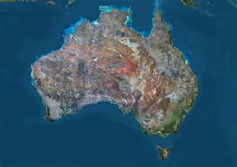 satellite map of australia five things you probably don t about australia