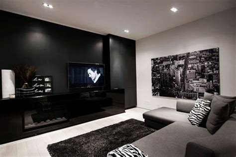 Living Room Color Schemes Black And Cozy Living Room With Black White And Grey