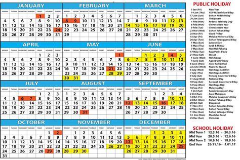 printable calendar 2018 malaysia school holiday 2018 calendar malaysia public holidays list printable